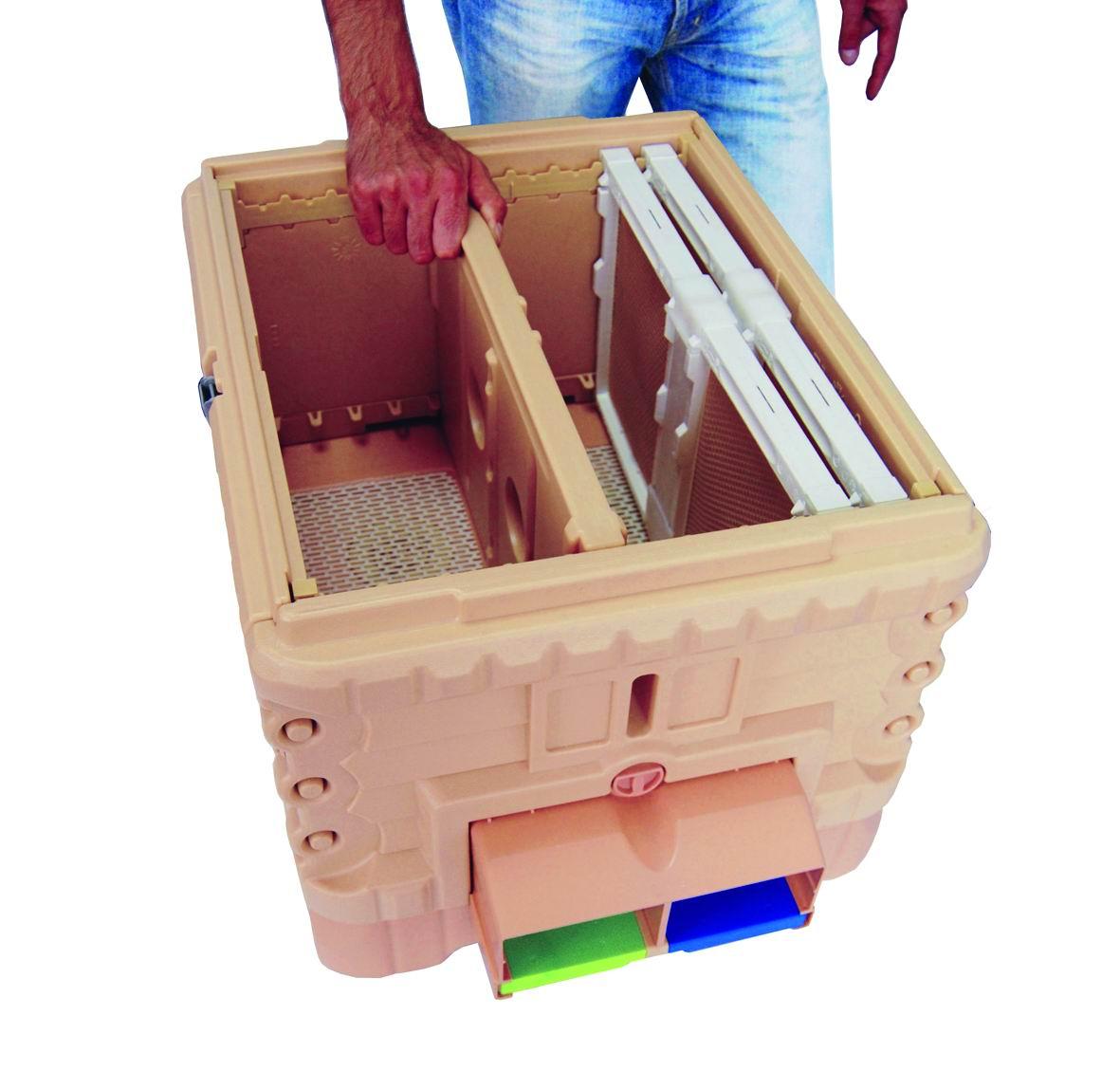 蜂箱内部结构图